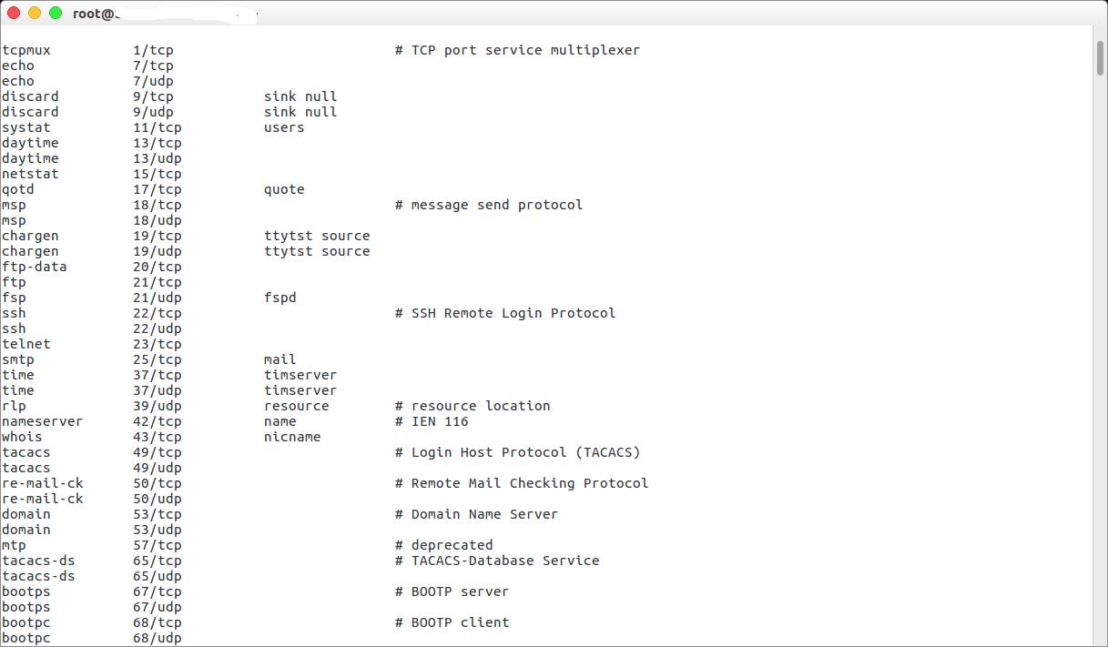 Номер порта TCP - все номера портов в таблице